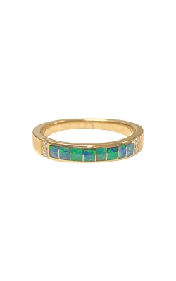 Kabana 14k Yellow Gold Opal and Diamond Ring: SIZE 8 GRIF780XX-8  product image
