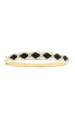 14k YG Onyx and White MOP Bracelet w/.33 tw diamonds - GBRC501OXMW-L product image