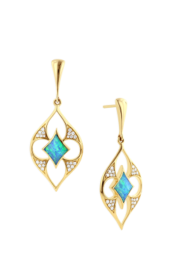 Kabana 14k Yellow Gold Opal And Diamond Earrings GECF517X product image