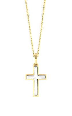 Kabana 14k YG White Mother of Pearl Inlay Cross product image