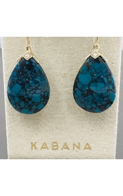 Kabana 14k Yellow Gold Chinese Turquoise Earrings GECF611TC product image