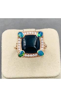 Kabana 14k RG Onyx And Opal Ring - NRIF7480XXX product image