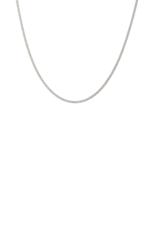 Kelly Waters Platinum Finish Sterling Silver 1mm 18 Inch Curb Chain BL2083CH18 product image