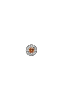 Kelly Waters Platinum Finish Sterling Silver Micropave Round Citrine Charm BL2300CH11S product image
