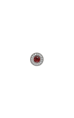 Kelly Waters Platinum Finish Sterling Silver Micropave Round Garnet Charm BL2300CH1S product image
