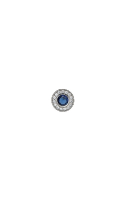 Kelly Waters Platinum Finish Sterling Silver Micropave Round Sapphire Charm BL2300CH9S product image