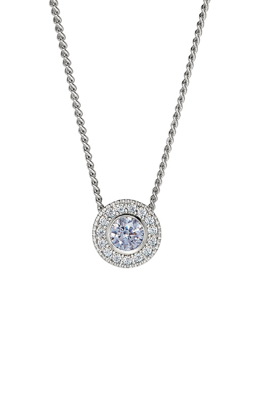 Kelly Waters Platinum Finish Sterling Silver Round Light Amethyst Pendant BL2300N6S product image