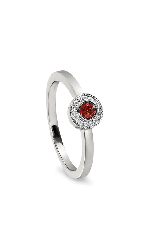 Kelly Waters Platinum Finish Sterling Silver Micropave Round Garnet Ring BL2300R-7S-1 product image