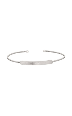 Kelly Waters Rhodium Finish Sterling Silver Name Plate Cable Cuff Bracelet LL7029B-RH product image