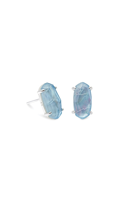 Kendra Scott Betty Bright Silver Stud Earrings In Sky Blue Illusion 4217702632 product image