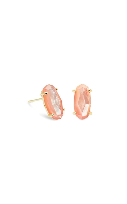 Kendra Scott Betty Gold Stud Earrings In Peach Pearl 4217702634 product image