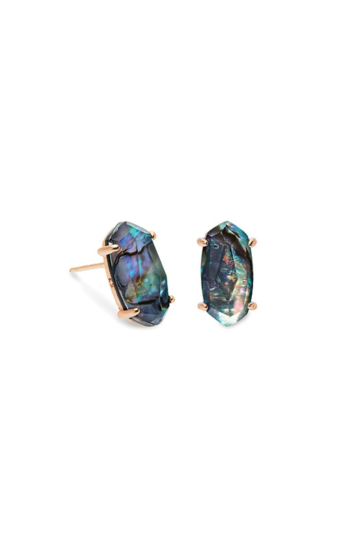 Kendra Scott Betty Rose Gold Stud Earrings In Abalone Shell 4217702636 product image