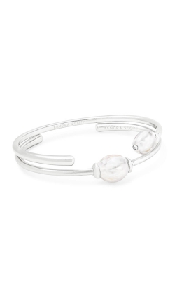 Kendra Scott Amiya Bright Silver Cuff Bracelet In Pearl 4217703192 product image