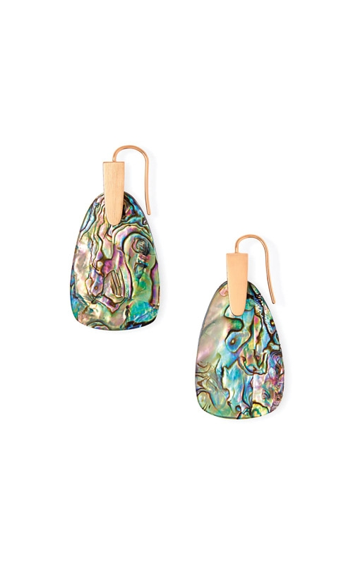Kendra Scott Marty Rose Gold Drop Earrings In Abalone Shell 4217703350 product image