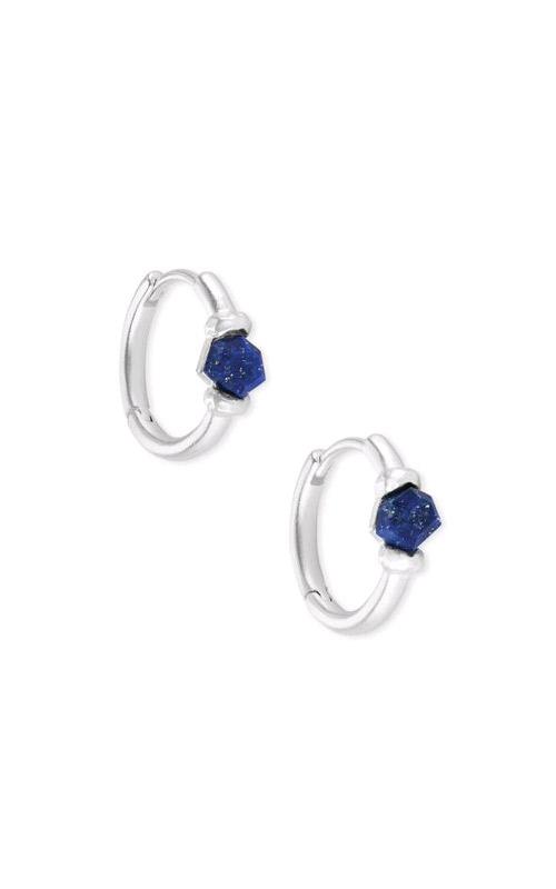 Kendra Scott Ellms Bright Silver Huggies in Blue Lapis 4217704161 product image