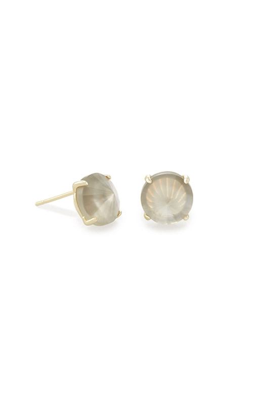 Kendra Scott Jolie Gold Stud Earrings In Gray Illusion 4217704515 product image