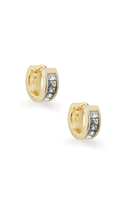 Kendra Scott Jack Gold Huggie Earrings In White Crystal 4217704641 product image