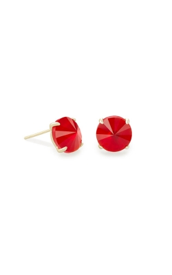 Kendra Scott Jolie Gold Stud Earrings In Cherry Red Illusion 4217704667 product image