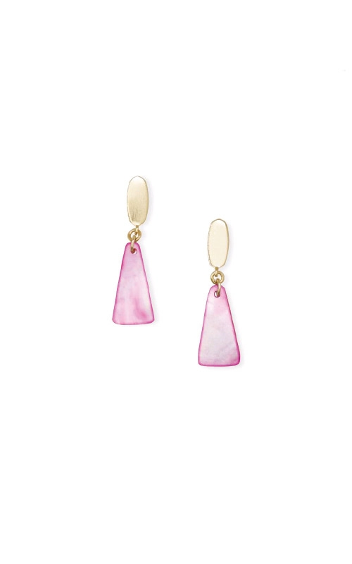 Kendra Scott Noah Gold Small Statement Earrings In Magenta Mother of Pearl 4217704900 product image