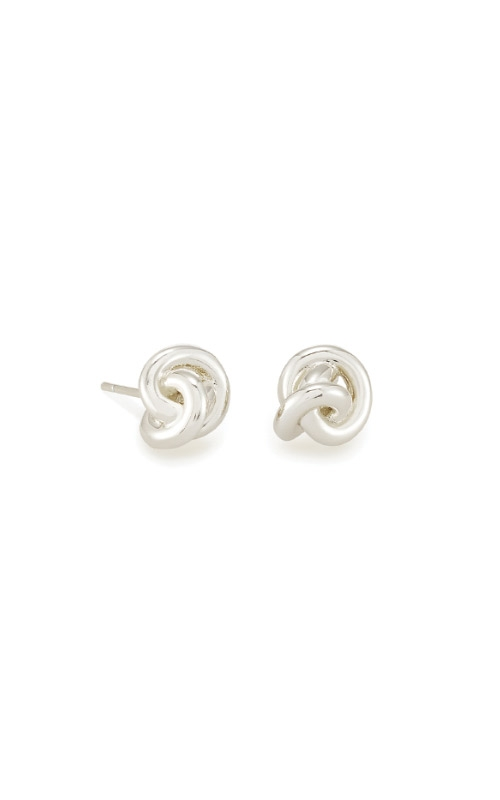 Kendra Scott Presleigh Love Knot Stud Earrings In Bright Silver 4217705364 product image