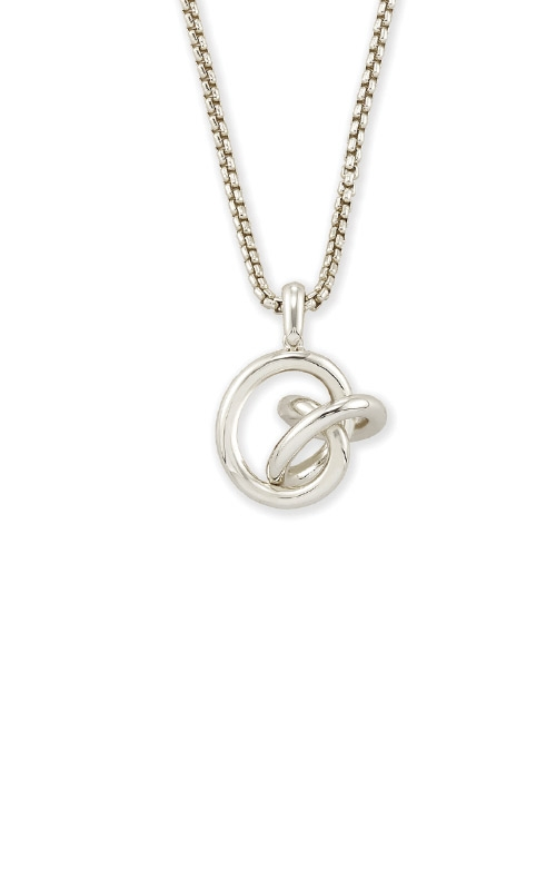 Kendra Scott Presleigh Love Knot Pendant Necklace In Bright Silver 4217705380 product image