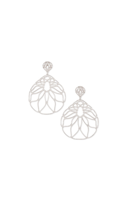 Kendra Scott Hallie Statement Earrings In Silver 4217705417 product image