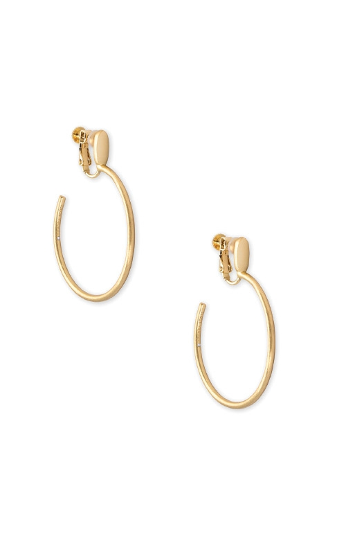 Kendra Scott Small Pepper Clip On Hoop Earrings In Gold 4217705995 product image