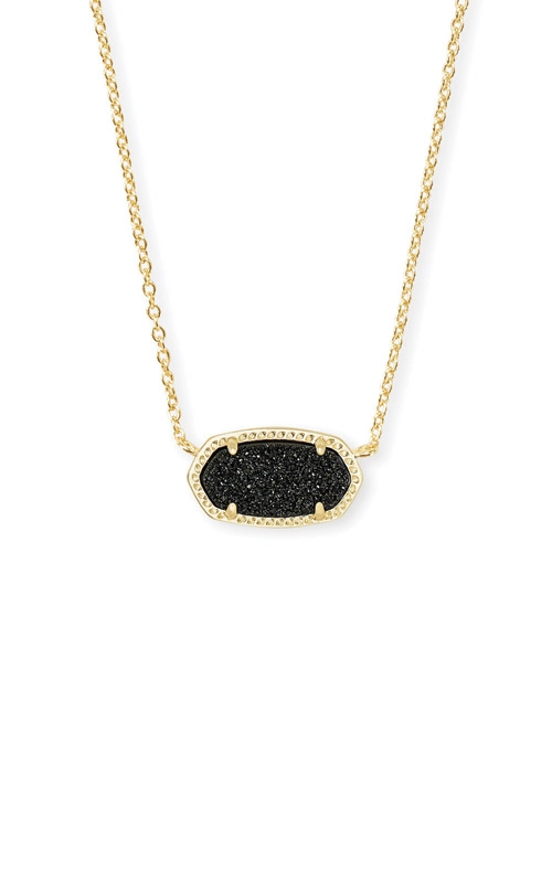 Kendra Scott Elisa Gold Pendant Necklace In Black Drusy 4217711331 product image