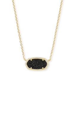 Kendra Scott Elisa Gold Pendant Necklace In Black Drusy 4217711331 product image