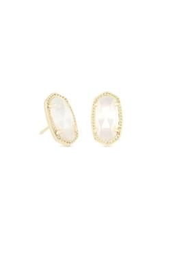 Kendra Scott Ellie Gold Stud Earrings In Ivory Pearl 4217712740 product image