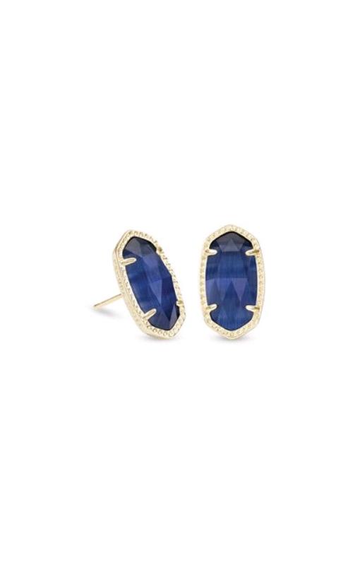 Kendra Scott Ellie Gold Earrings in Navy Catseye 4217712749 product image