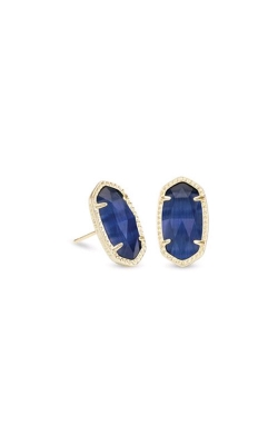 Kendra Scott Ellie Gold Earrings In Navy Catseye 4217712749 product image