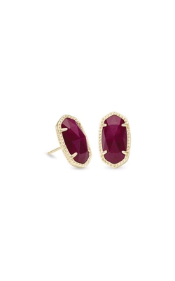 Kendra Scott Ellie Gold Earrings In Maroon Jade 4217712751 product image