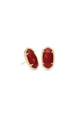 Kendra Scott Ellie Gold Earrings In Dark Red 4217715296 product image