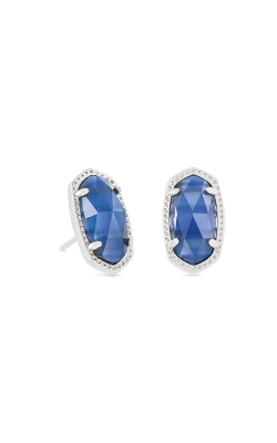 Kendra Scott Ellie Rhodium Earrings In Navy Cateye 4217715306 product image