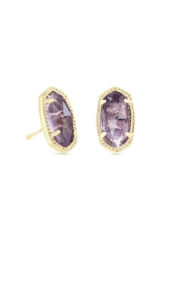 Kendra Scott Ellie Gold Stud Earrings In Amethyst 4217715377 product image