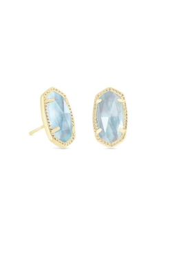 Kendra Scott Ellie Gold Stud Earrings In Light Blue Illusion 4217715378 product image