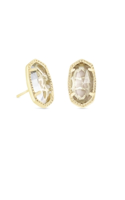 Kendra Scott Ellie Gold Stud Earrings In Clear Crystal 4217715382 product image