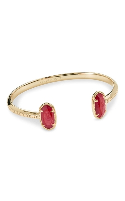 Kendra Scott Elton Gold Cuff Bracelet In Red Mother Of Pearl 4217716498 product image
