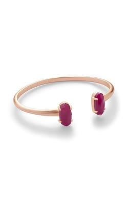 Kendra Scott Edie Rose Gold Bracelet In Maroon Jade 4217717044 product image