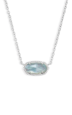 Kendra Scott Elisa Silver Pendant Necklace In Light Blue Illusion 4217717618 product image