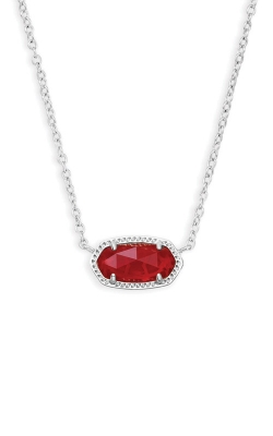 Kendra Scott Elisa Silver Pendant Necklace In Ruby Red 4217717621 product image
