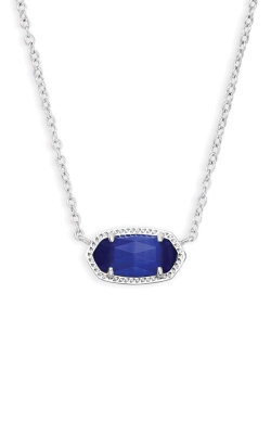 Kendra Scott Elisa Silver Pendant Necklace In Cobalt Cats Eye 4217717623 product image