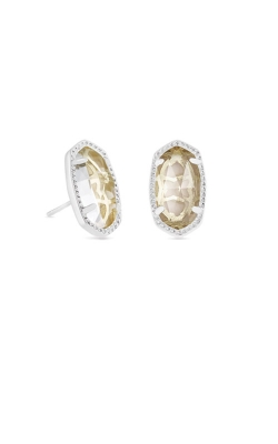 Kendra Scott Ellie Silver Stud Earrings In Clear Crystal 4217717630 product image