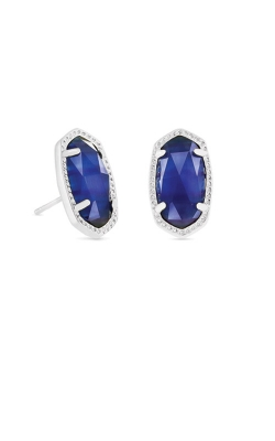 Kendra Scott Ellie Silver Stud Earrings In Cobalt Cats Eye 4217717634 product image