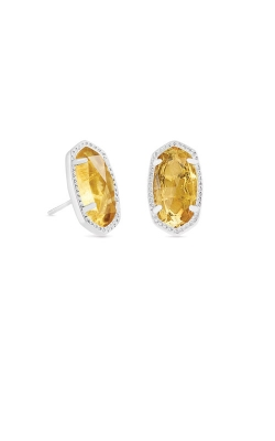 Kendra Scott Ellie Silver Stud Earrings In Citrine 4217717636 product image