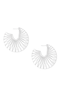 Kendra Scott Deanne Hoop Earrings In Bright Silver 427703937 product image