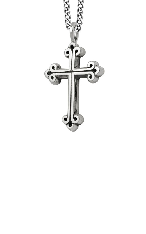 King Baby Sterling Silver Medium Cross Necklace K12-5046 product image