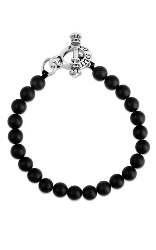 King Baby Sterling Silver 8mm Black Onyx Bracelet K42-5156 product image