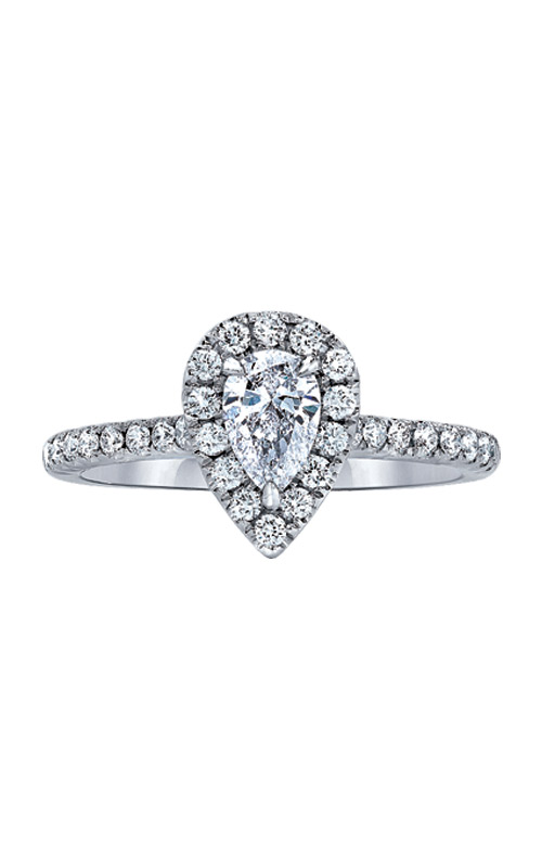 Love Story 14k White Gold 1ctw Pear Engagement Ring AJ-R12888LJ product image